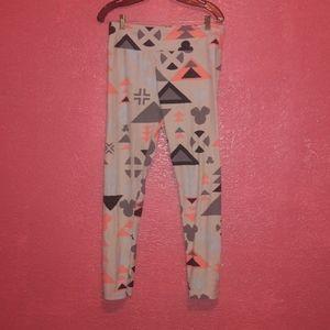 Disney minnie leggings lularoe geometric shape
